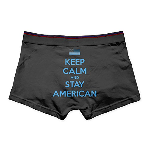 Keep Calm And Keep American Print Printed Briefs For Men