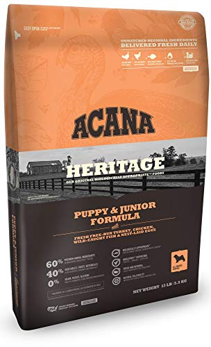 ACANA Heritage Puppy & Junior Formula Grain Free Dry Dog Food 4.5 Pounds