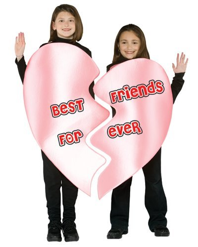 Best Friends Forever Heart Costume - One Size by Rasta -