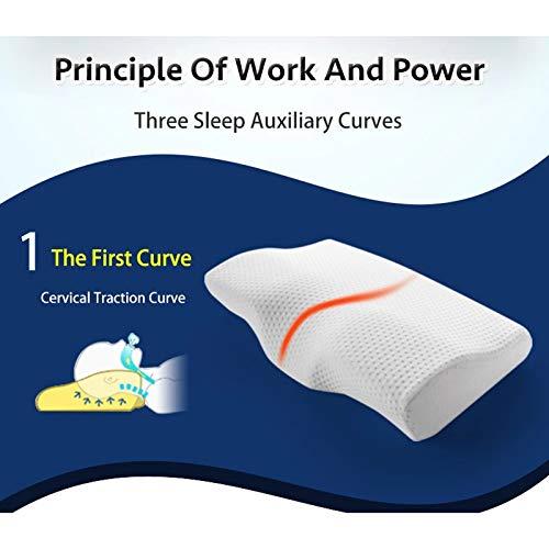 WMC 50 30CM Memory Foam Bedding Pillow Neck Protection Slow Rebound Memory Foam Butterfly Shaped Pillow Health Cervical Neck