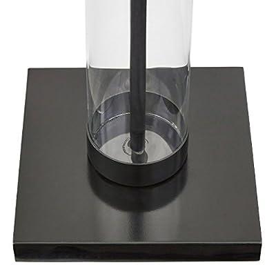 Stone & Beam Glass Column Black Floor Lamp