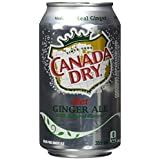 Canada Dry Diet Ginger Ale, 355 mL cans, Pack of 12