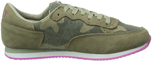 ilitary mil Mode Roxy Femme Run Baskets Vert wBnwCgxqX