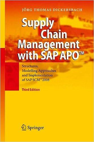 Supply Chain Management APOTM Implementation