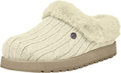 Sweater slipper with plush foam