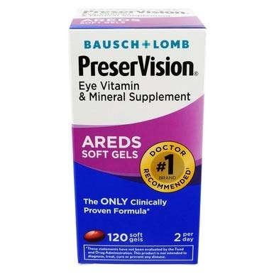 Bausch & Lomb PreserVision 120 Soft Gels (Pack of 10)