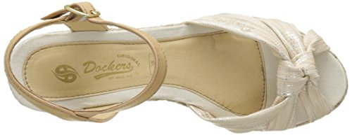 Dockers by Gerli 36is202-680920, Sandalias con Cuña para Mujer Dorado (Gold 920)