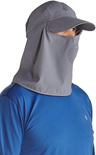 Coolibar UPF 50+ Men's Ultra Sport Hat - Sun Protective (Large/X-Large- Carbon)