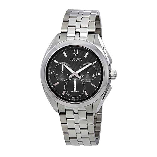 Bulova Men's 45mm CURV Collection Stainless Steel Chronograph Watch -