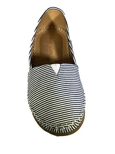 Adam Tucker Womens Sangria Slip-On Shoe Navy/White Stripe ggQzb