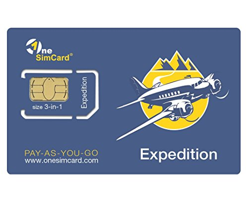 - OneSimCard Expedition International 3-in-one SIM Card for use in 200+ Countries with $5 credit - Data from $0.02 per MB. Compatible with All Unlocked GSM Device & Phones