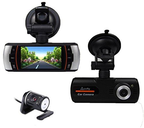 Accfly 2.7-inch Screen 1080P HD Video Recorder DVR Dual Lens Car Dash...
