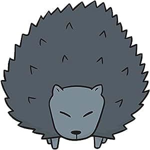 Amazon.com: Cute Gray Black Hedgehog Porcupine Cartoon ...