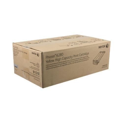 Xerox 106R01394 OEM Toner - Phaser(R) 6280 High Capacity Yellow Toner (5900 Yield) OEM