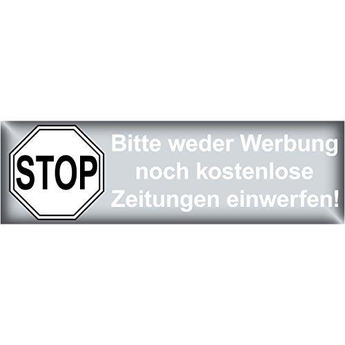 100 Briefkasten Hinweis Sticker Aufkleber Einwerfen