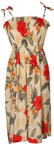 - Two Palms Womens Leilani One Size Short Tube Dress CREAM