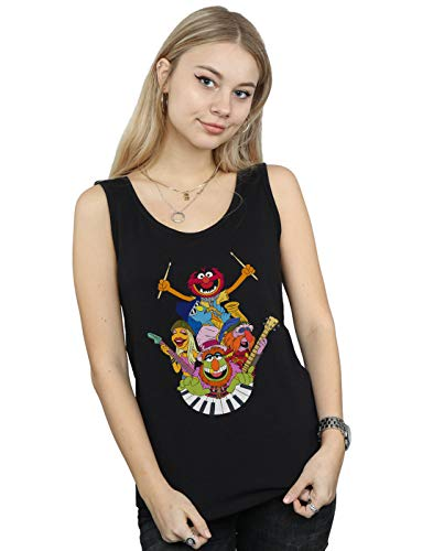 Disney Women's The Muppets Dr Teeth and The Electric Mayhem Tank Top Black Large