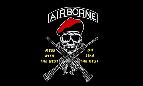 American Vinyl Mess with The Best Airborne RED Beret Sticker (Decal Army SSI) ()