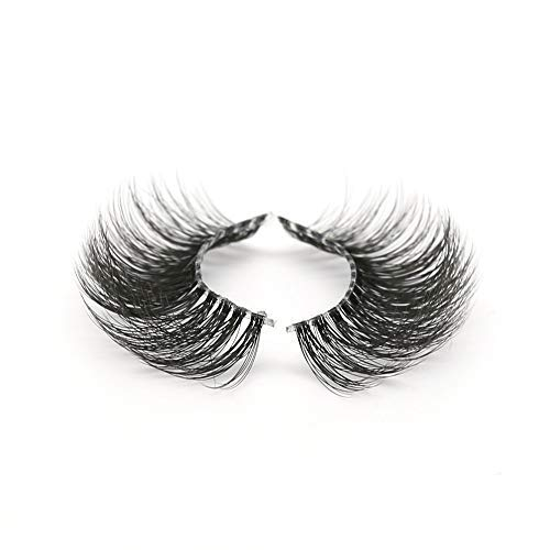 Premium Quality False Eyelashes| Fluffy and Universal for All Eyes | Natural Look and Feel | Reusable | 100% Handmade & Cruelty-Free (Belle)