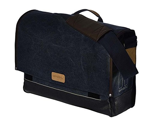 BASIL URBAN FOLD MESSENGER & BICYCLE PANNIER BAG - DEEP DENIM BLUE - 20L 17622