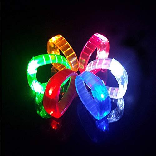 Aquatx Light Up Bracelets Multi Colors Light up Bracelets led Flashing Wristbands Blinking Colors Party by Aquatx