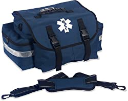 Arsenal 5210 Small First Responder Trauma Emt First Aid Duffel Bag W Shoulder Strap, Blue