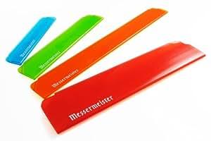 Messermeister 4-Piece Edge-Guard Set, Translucent Multi-Color