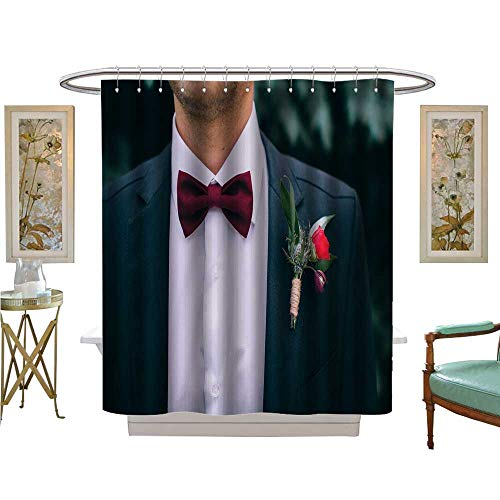 Indianapolis Colts Bow Tie Luvoluxhome Shower Curtains