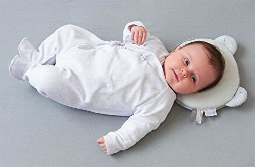 Petit Panda Air Breathable Baby Pillow white Helps prevent flathead