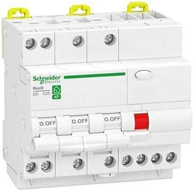 Schneider – resi9 XP – Interruptor diferencial (3P + N 10 A 30 mA curva C Type Asi Schneider r9pdcs10 – sch-r9pdcs10: Amazon.es: Iluminación