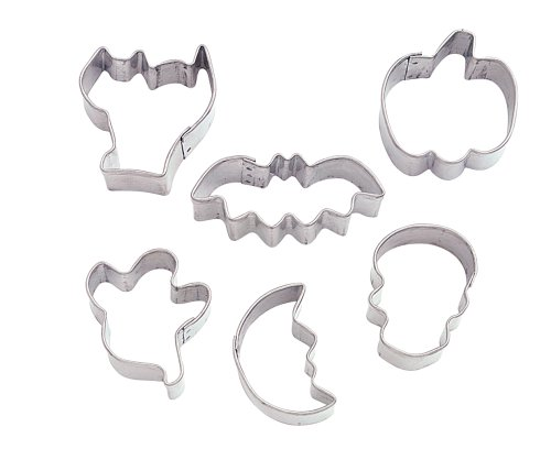 Wilton 6 Piece Halloween Mini Metal Cookie Cutter Set -