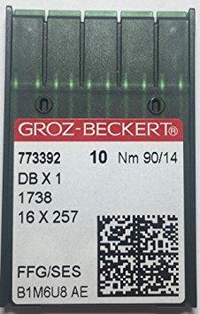 - 50PCS GROZ-BECKERT INDUSTRIAL SEWING MACHINE BALLPOINT NEEDLES Sewing Machine Needles DB1 Dbx1 1738 16X231 #90/14 Ball Point.