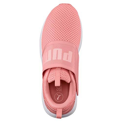 Peach Enzo Soft Damen Mesh Fluo Puma Sneakers puma Strap White OTw0nqRdp