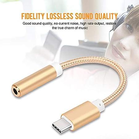 Tipo C a 3.5 mm Cable de conector de micr/ófono auxiliar hembra para Letv 2//2PRO//max2//mi tel/éfono 6//Smartisan U2 Pro USB C//Tipo C Enchufe a 3.5mm Adaptador de conector de audio para auriculares