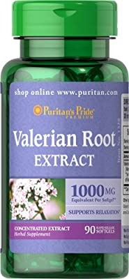 Puritan's Pride Valerian Root 1000 mg-90 Softgels