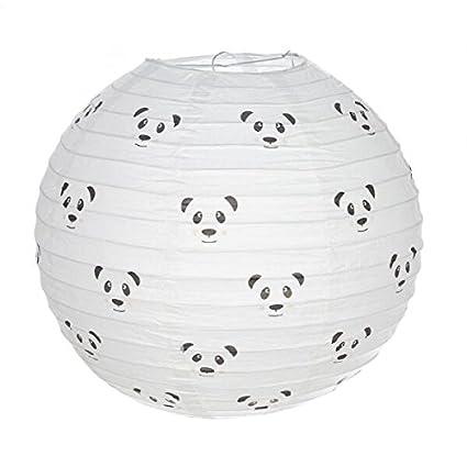 Dcasa - Pantalla papel para lampara de techo infantil panda ...
