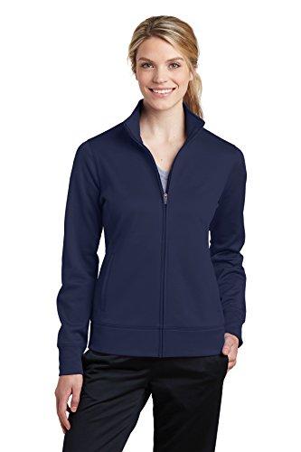 Sport-Tek Women's Sport-Wick Fleece Full-Zip Jacket LST241 Navy Medium