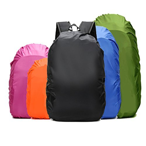 (Frelaxy Waterproof Backpack Rain Cover for (15-90L), Upgraded Design & Silver Coated, for Hiking, Camping, Traveling, Outdoor Activities (Fuchsia, S))