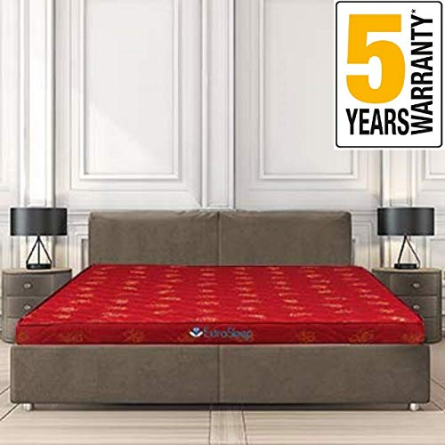 Extra Sleep Coir Mattress 4 Inch Back Support Orthopaedic Care, Cotton Breathable Fabric Mattresses, Queen Size Mattress (78x60x4)
