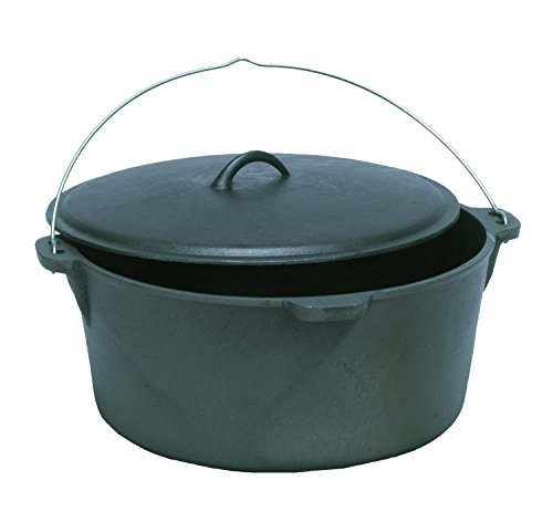 Texsport 14490 Cook Ware - 20 quart Dutch Oven - Cast Iron