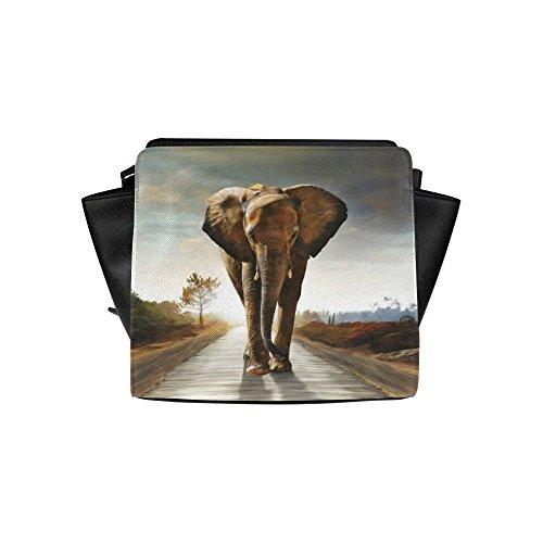 Jasonea Women Satchel Bag Hand Bag With The Elephant Basdd169982