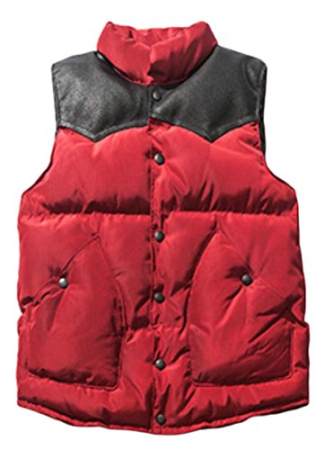 Maniche Del Trapuntato Gilet W Del amp; Collare Palla Rosso amp; Basamento S Pesce Uomini Outwear M Giù 6qxXztw7