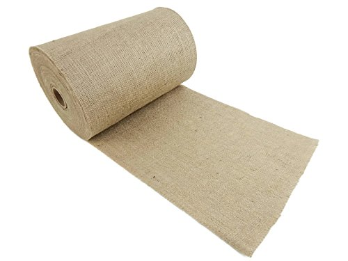 Burlap and Beyond 14'' Natural Burlap Roll - 50 Yards Eco-Friendly Jute Burlap Fabric Unfinished Edges 14 Inch by Burlap and Beyond (Image #1)