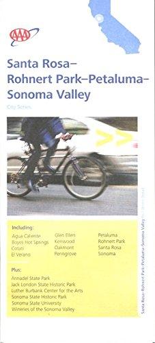 MAP OF SANTA ROSA - ROHNERT PARK - PETALUMA - SONOMA VALLEY ...