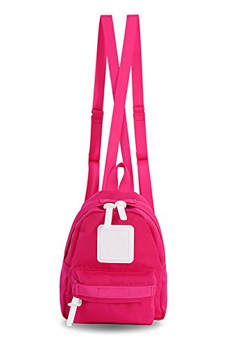 Mini Backpack For Women, Girls, Toddlers, ; Popular as a Purse, Diaper Bag, Miniature IPad or Daypack - Hot Pink by Adamonica