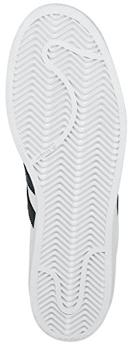 Adidas Originali Mens Superstar Fondazione Casual Sneaker Bianco Nero