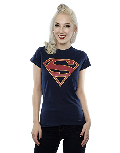 DC Comics Women's Supergirl Logo T-Shirt X-Large Deep Navy ()