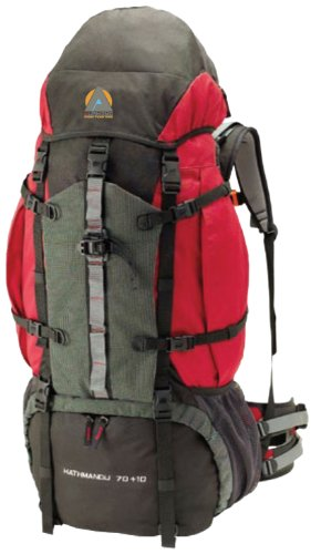 High Peak USA Alpinizmo Kathmandu 70+10 Backpack, Red