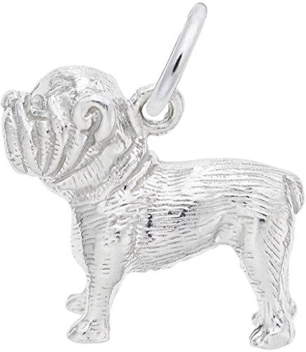 (Rembrandt Cute Bulldog Charm - Metal - 14K White Gold)