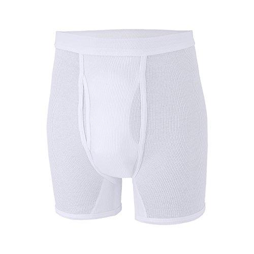20 Blanc Double La Jusqu'à Côte 'prestige' Adamo Grande Taille Boxer By UqwxCvB